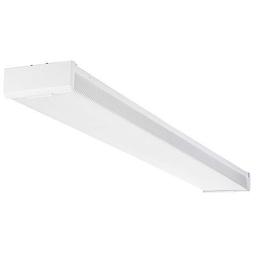 LEONLITE 42W 4FT LED Wraparound Light, UL-Listed, 120-277V, 4400lm, 4000K Cool White, Integrated Linear Flush Mount Ceiling Lighting...