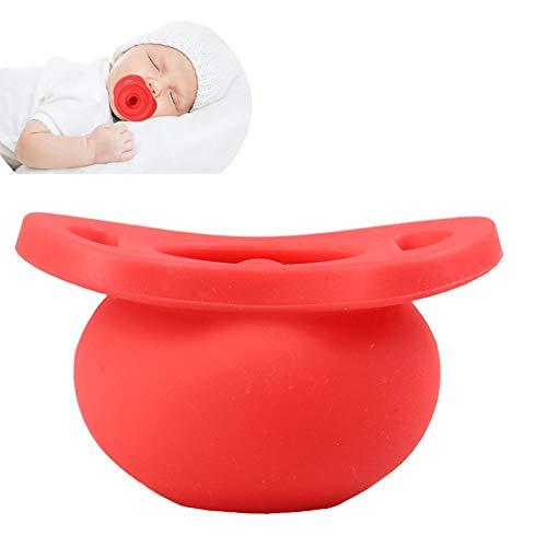 WDXIN Bebe Chupete Silicona Juguete Silicona Producto Bebe Apaciguar Chupete Lata Telescópica A Prueba de Polvo Apaciguar Chupete Bebe Suministros 2 Paquetes,Red