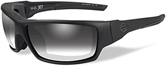 Harley-Davidson Men's Jet LA Light Sunglasses, Gray Lens/Black Frames HDJET05