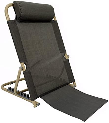 JJSFJH Poltrona Lazy Sofa Lounge con, Sedia a Schienale Pieghevole Leggero, Sedile Regolabile con Supporto Posteriore per Campeggio di Meditazione dello Stadio, Design Cuscino Testa (Colore : A)