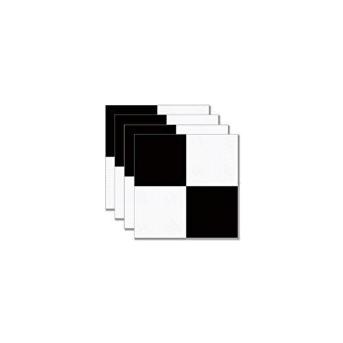 Manyo - Juego de 4 pegatinas para azulejos de escalera, color negro y blanco # 09, pegatinas para pared, para cuarto de baño, cocina, adhesivo de PVC, 30 x 30 cm