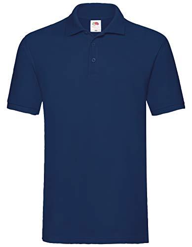 Fruit of the Loom Premium Polo Herren Polo-Shirt NEU, Farbe:Navy, Größe:XL