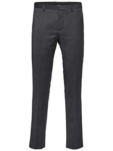 SELECTED HOMME Herren SLHSLIM-MYLOBILL TRS B NOOS Anzughose, Grau (Grey Grey), W28(Herstellergröße: 44)