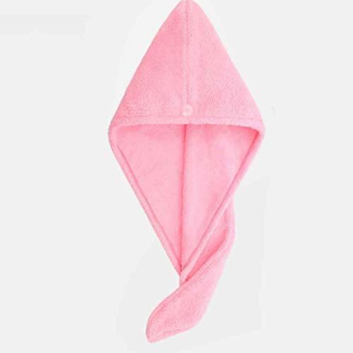 XYZMDJ 1 Uds Microfibra después de la Ducha Envoltura de Secado de Cabello Mujeres niñas Toalla de señora Sombrero de Pelo de Secado rápido Gorro Turbante Envoltura de Cabeza Herramientas de baño