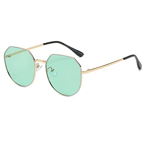 RSHJD - Gafas de sol polarizadas para niños, de moda multilateral, para niños y niñas de 5 a 10 años, color azul