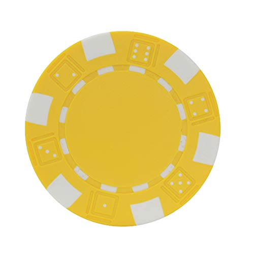 GFPR 30 pcs spielchips, 40 * 3,3 mm Poker Chips, Chips Karten für Casino-Unterhaltung, Club-Punkte, Party-Urlaub, Aktivitätspunkte Yellow