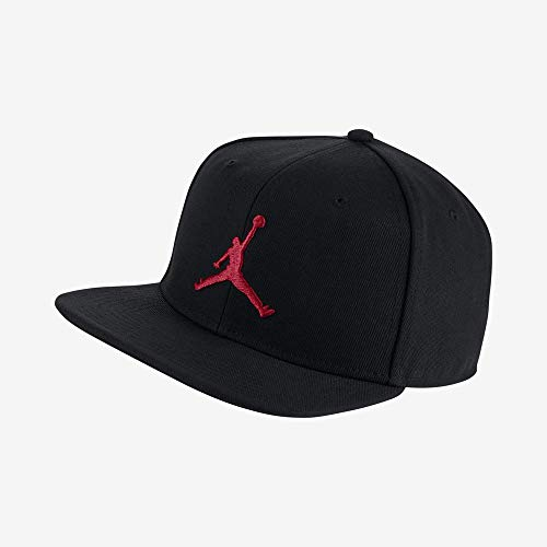 Nike Jordan PRO Jumpman Snapback Hat, Black/Gym Red, MISC