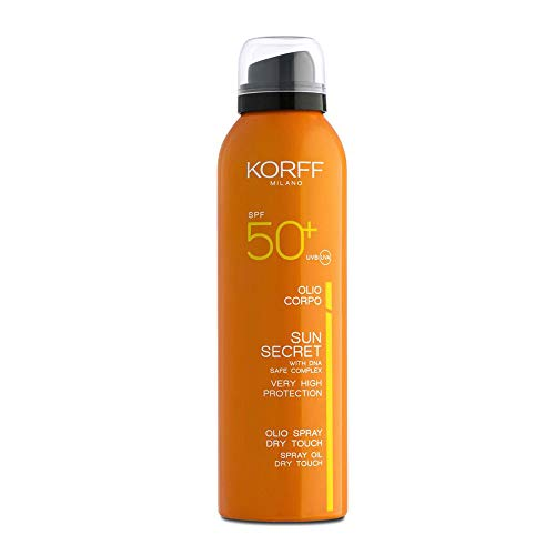 Korff Sun Secret Huile Solaire Spray Corps Touche Sec SPF50+ 200 ml