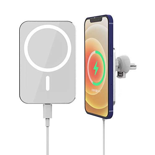 Kovake Cargadores de Coche inalámbrico con magnético | Soportes de teléfonos móviles para Coches Compatible con iPhone 12 Mini, iPhone 12, iPhone 12 Pro y iPhone 12 Pro MAX