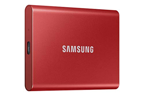 SAMSUNG Portable SSD T7 500GB USB 3.2 External - Red  (MU-PC500R/AM)