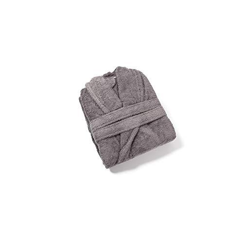 Royal Europe Textile - Albornoz Rizo Americano 500gr/m2 100% ALGODÓN Color Marengo