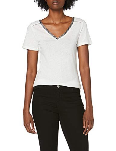 Morgan 201-dacha.n Camiseta, Blanco (Off White Off White), X-Small (Talla del Fabricante: TXS) para Mujer
