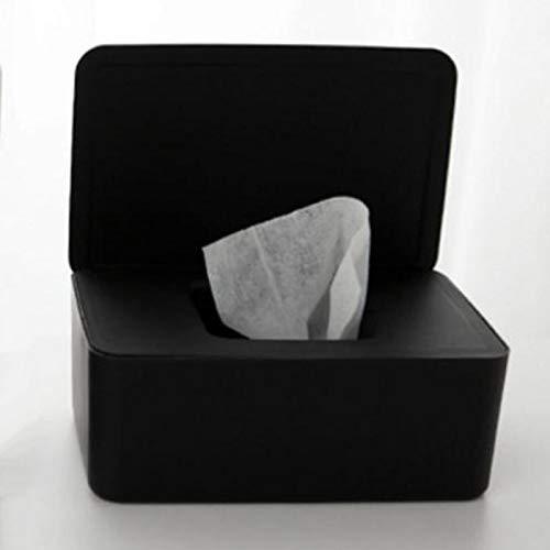 AXUHENGO Caja de pañuelos de plástico Soporte para pañuelos húmedos Toallitas para bebés Caja de Almacenamiento de Papel Dispensador de Toallas de Papel Organizador de servilletas para el hogar Rojo