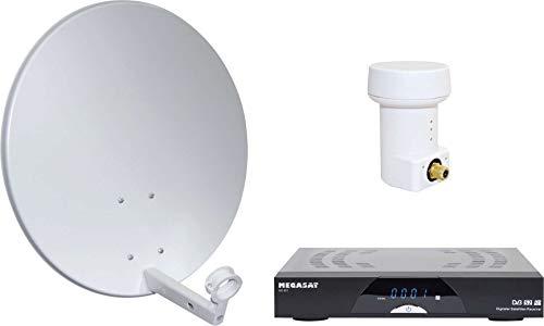 Megasat HD Camping-Komplettanlage Spiegelantenne Fernsehen Wohnwagen Reisemobil Satellit Anlage weiß