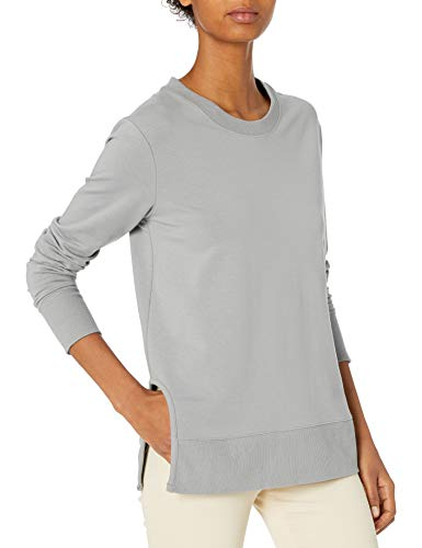 Amazon Brand - Daily Ritual Women's Terry Cotton and Modal Pullover with Side Cutouts, Sharkskin Grey, X-Large