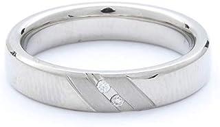Breuning Shiny & Matte 600 0.02ct Round cut Diamond Wedding Band Ring [BR8085]