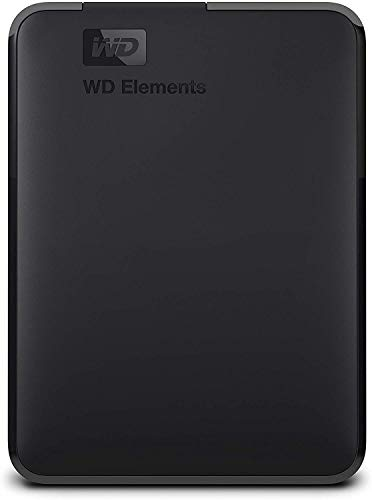 WD Elements Hard Disk Esterno, Portatile, USB 3.0, 2 TB, Nero