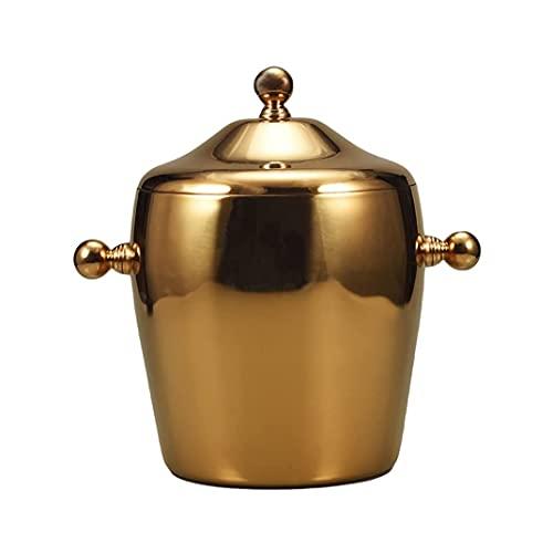 YWSZJ Edelstahl EIS Eimer Champagner Wein-Eimerkühler für Bar Restaurantstil (Color : Brass, Size : Type-1)