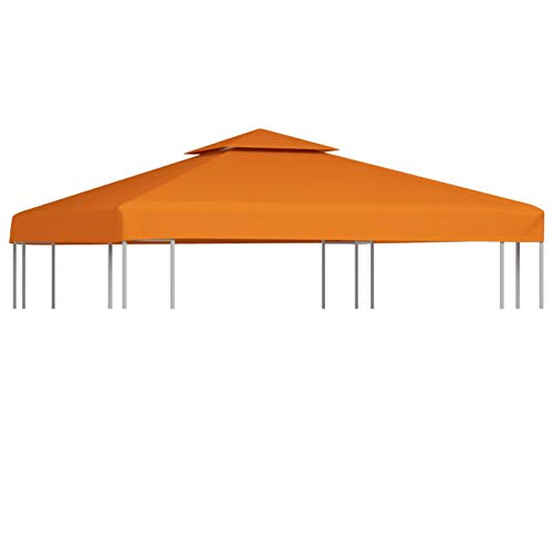 GOTOTOP Cubierta de Repuesto para Pabellón Cenador Gazebo, 3 x 3 m, Impermeable, con 8 Arandelas, 310 g/m², Terracota