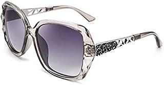 Polarized Women Square Sunglasses Sparkling Composite Shiny Frame B2289 (Grey)