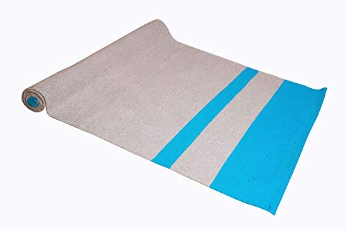 """YAAZH AAKASH Cotton Mysore Yoga Rug for Gym Workout and Flooring Exercise Long Size Yoga Mat for Men & Women 27"""" x 72"""""""