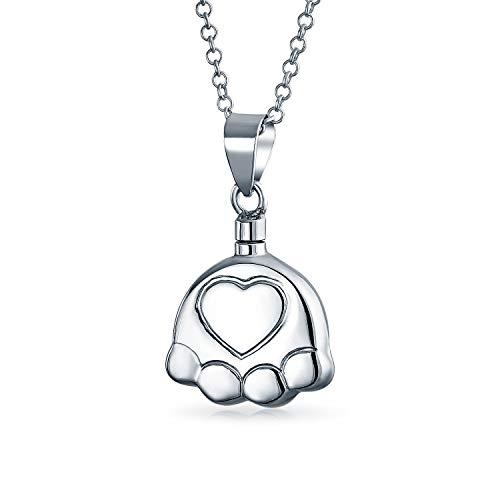 Perro gato cachorro pata impresión cremación joyería para cenizas colgantes medallón memorial urna cenizas titular collar para las mujeres de ley