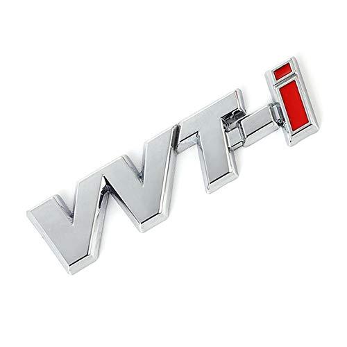 Csfssd Große Plattierung VVT-I Brief Beschriftung Standard Auto Aufkleber Auto-Logo-Abzeichen-Aufkleber (Farbname : Silver VVT I)