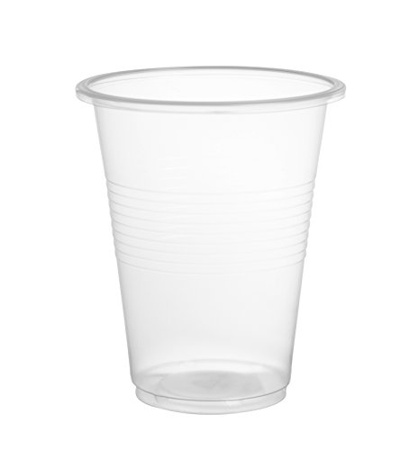 Crystalware Plastic Cups 9 Ounce - 80 count, Clear