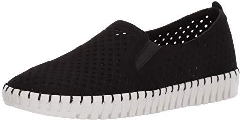 Skechers Sepulveda Blvd-A La Mode, Zapatillas sin Cordones Mujer, Negro (BKW Black Microfiber/Off White Trim), 38.5 EU