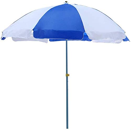 KISNAD Sombrilla Parasol con Ángulo Ajustable Playa Ajustable Parasol Agua Repelente UV Protectora con 8 Costillas para Playa/Piscina/Patio Paraguas al Aire Libre Tienda, sin Parasol Base