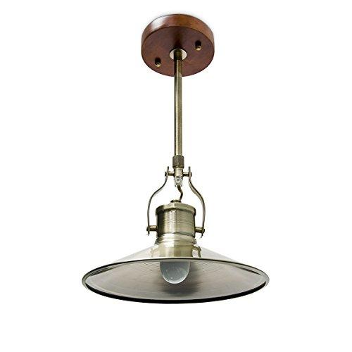 Relaxdays 10018909 Plafond Suspension en Style Industriel Lampe à Suspendre Lustre, Métal, Gris