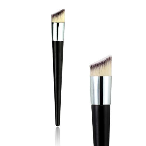 DAIMINNN Cabezal Oblicuo Base líquida Corrector en Polvo Base líquida Herramienta de Pincel de Maquillaje de Cara líquida cosméticos de Belleza Pincel de Maquillaje de Base líquida