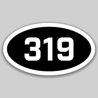DHDM 319 Area Code Sticker Iowa Cedar Rapids Burlington Cedar Falls City Pride Love | 5-Inches by 3-Inches | Premium Quality Vinyl UV Resistant Laminate PD2478