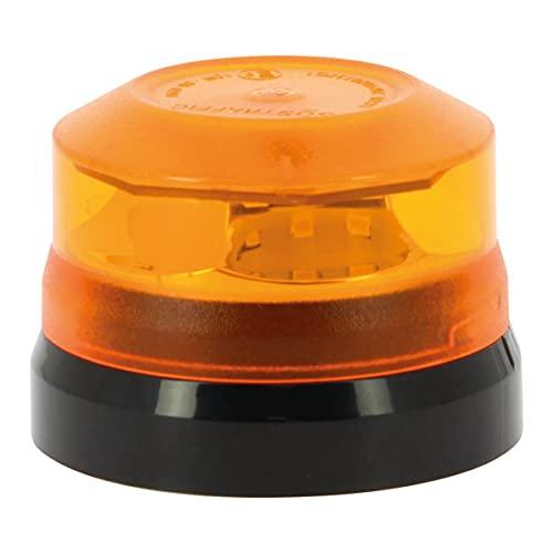 SUMEX SOSTRAFIC-Baliza LED Luminosa Magnética de Emergencia con Pila Intercambiable HOMOLOGADA Alta Visibilidad Desde 2Km. Tamaño Reducido 70mm, Impermeable, Homologada por la DGT, NEGRO Y NARANJA