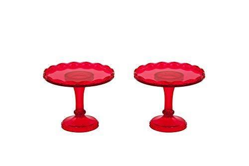 Pavoni 2pequeños Cupcake Soporte para Tarta, Color Rojo