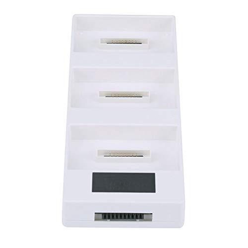 FECAMOS Concentrador de Carga múltiple Inteligente ordenado y Suave, Cargador de batería Inteligente RC Cargador de batería múltiple RC Pantalla Digital para dji Phantom 4 Drone