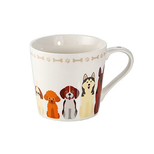 SPOTTED DOG GIFT COMPANY Tasse Hund große Kaffeetasse Teetasse Kaffeebecher mit Hunde und Knochen Motiv Geschenk für Hundebesitzer Hundeliebhaber Frauen Männer