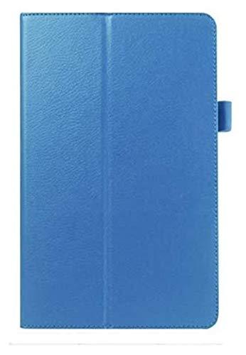 Accesorios De Pestañas para Samsung Galaxy Tab 4 10.1, Funda De La Cubierta De La Tableta del Soporte De La Estuche De Cuero PU De La PU para La Pestaña Galaxy 4 10.1 T530 T531 T535 (Color : Blue)