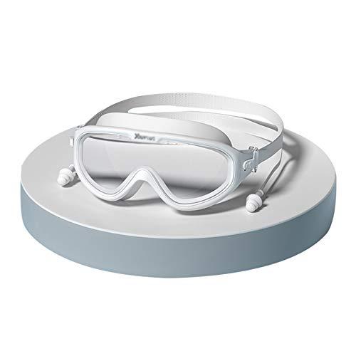 QQSS Gafas de Natación Profesional Anti-vaho, Gafas de Natación de Marco Amplio, Ajustable Gafas de Natación Antigoteo, Protección UV para Hombres, Mujeres, Adultos, Jóvenes y Niños