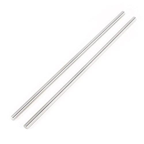 Varilla redonda - SODIAL(R) 2pzs Varilla redonda de acero Herramientas barras de torno giratorias 6mm x 200mm