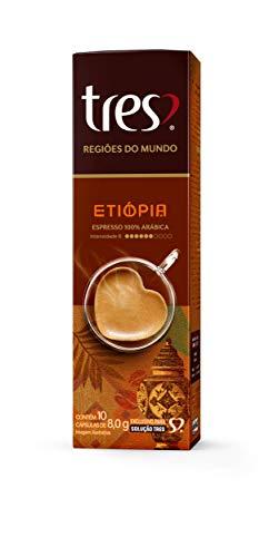 Cápsula de Café Espresso, Etiópia, Regiões Do Mundo, 10 Unidades, Tres, 3 Corações