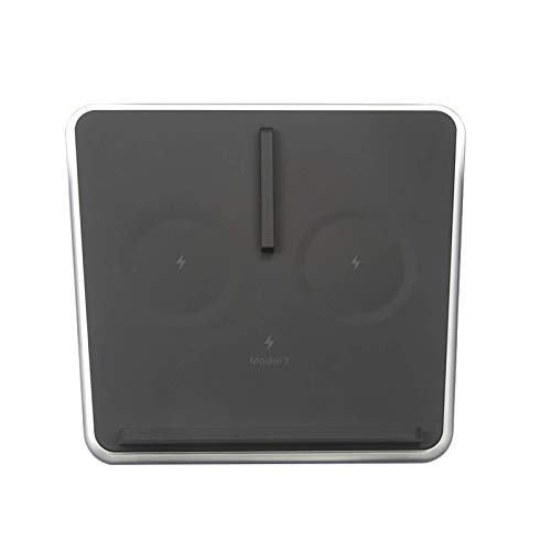 Nrpfell Verbessertes Charger Pad Modell 3, Dual 10W QI Phone Charger für Tesla Model 3