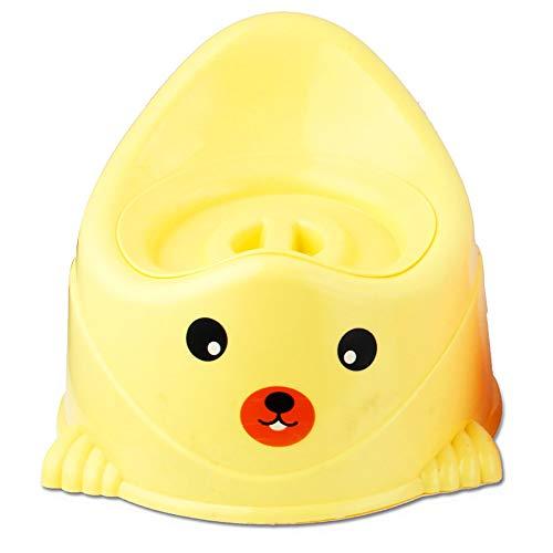 ccfEncounter Toilette per Bambini, Seggiolone Vasino per Bambini, con Vasino Rimovibile, Manico Vuoto, Schienale Rialzato, Design Antiscivolo per Toilette per Ragazzi E Ragazze,Yellow