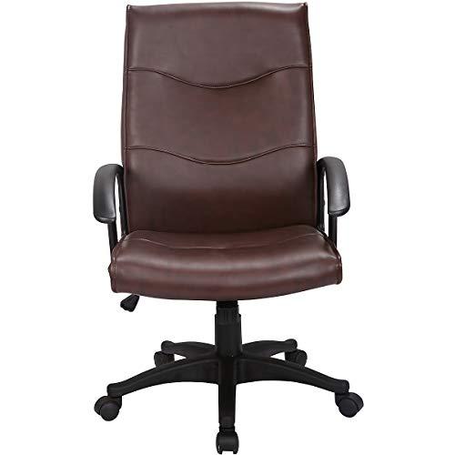 Certeo Chefsessel Farno mit Lederbezug, braun - Bürodrehstuhl mit Soft-Touch-Leder - Schreibtischstuhl mit italienischem Design