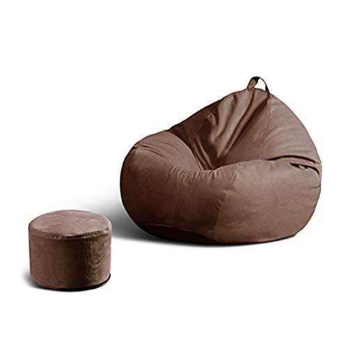 SD Canapé/Bean Bag Chaise/Grande Fauteuil/avec Mousse Ultra Confortable/avec Poignée/avec Repose-Pied/pour Enfants Et Adultes/110 * 130 cm