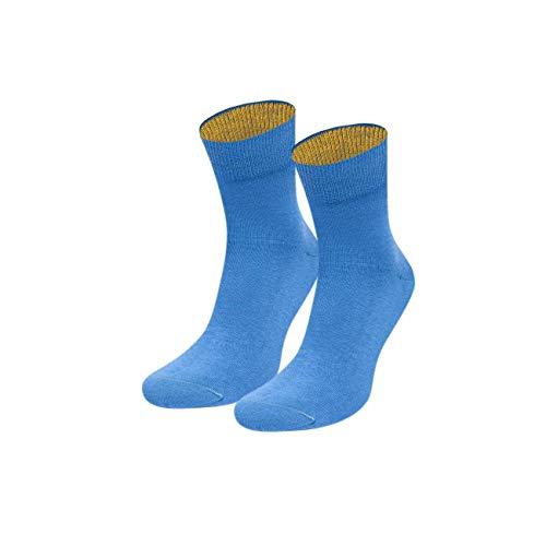 von Jungfeld - Damen Socken/Strumpf Damensocken Baumwolle 1 Paar viele Farben hellblau 39-41