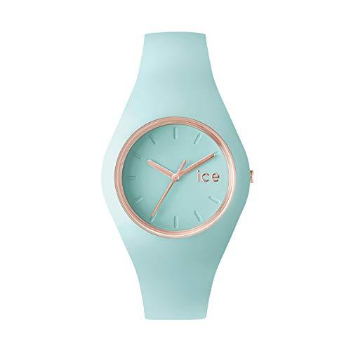 ICE-WATCH Ice Glam Pastel Aqua - Reloj Verde para Mujer con Correa de Silicona, 001068 (Medium)