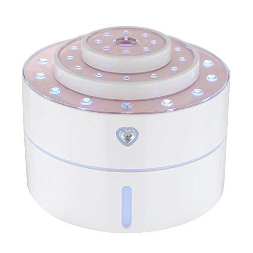DPGPLP USB Design-Laden Mit Bunten Nachtlichter Home Office Luftbefeuchter Nano Nachfülllösung, 260ML Wassertank, One Button Control,Weiß