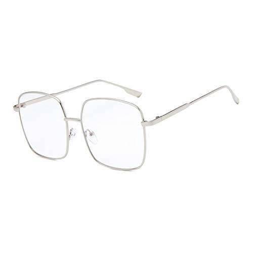 Grandes Square Marco Retro Gafas Montura para de Vista Unisex Transparente Clara Glasses Lente
