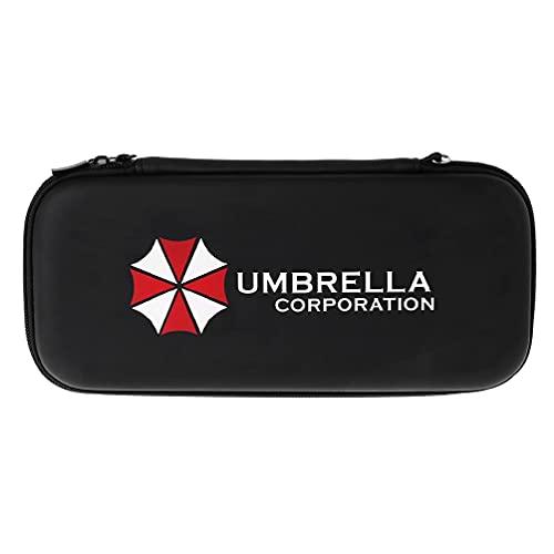 QTJUST Switch Hard Carry Storage Bag Case Shell Patrón de Paraguas pequeño para Manette pc filaire